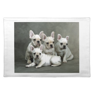 Adorable White French Bulldogs Placemats