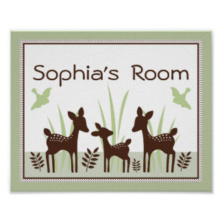 Adorable Willow Deer Family Poster/Print Poster