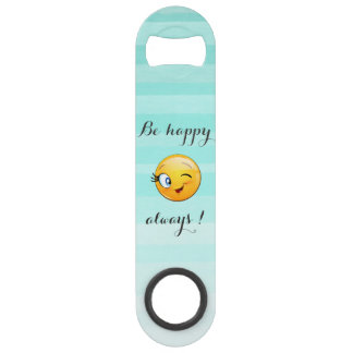 Adorable Winking Smiley Emoji Face-Be happy always