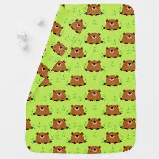Adorable Woodland Groundhog Pattern Baby Blanket