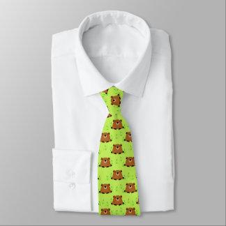 Adorable Woodland Groundhog Pattern Tie