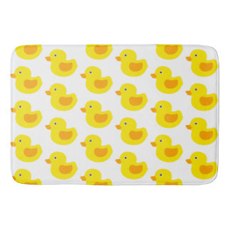 Adorable Yellow Rubber Ducks Duckies Bath Mat