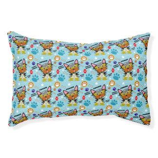 Adorable Yorkie Cartoon Pet Bed