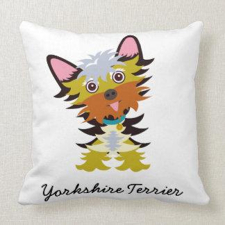 Adorable Yorkshire Terrier Cartoon Cushion
