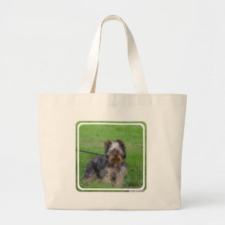 Adorable Yorkshire Terrier Jumbo Tote Bag