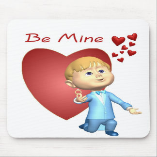 Adorable Young Man With Engagement Ring Caricature Mousepad