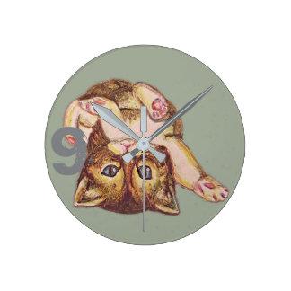 Adorably Playful Cat Clock