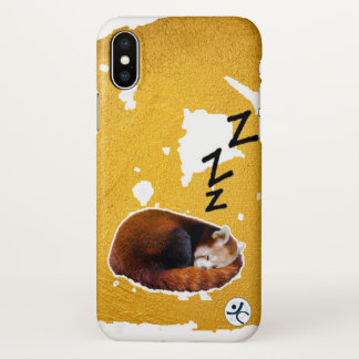 Adorably sleepy Red Panda case for iPhone X