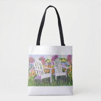 Adorandack Chairs Tote Bag