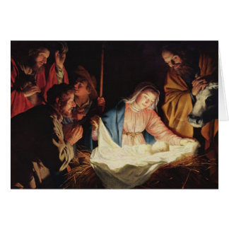 Adoration by the Shepherds by Gerard van Honthorst Card