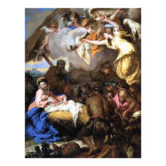 Adoration Jesus Mary Joseph Shepherds -Castiglione 21.5 Cm X 28 Cm Flyer