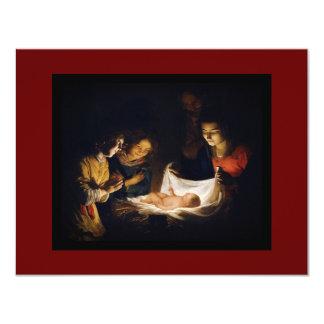 Adoration of Child Adorazion del Bambino 11 Cm X 14 Cm Invitation Card
