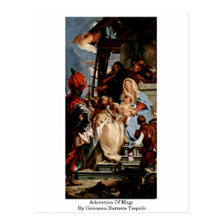 Adoration Of Magi By Giovanni Battista Tiepolo Postcard