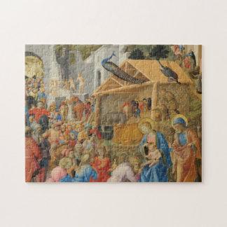 Adoration of Magi Fra Angelico Fra Filippo Lippi Jigsaw Puzzle