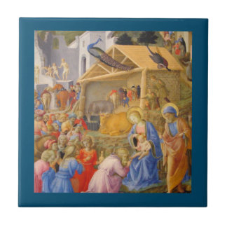 Adoration of Magi Fra Angelico Small Square Tile