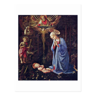 Adoration Of The Child And St. Bernard Postcard