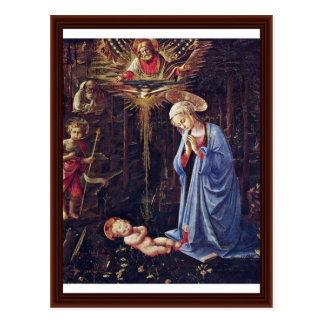 Adoration Of The Child And St. Bernard Postcard