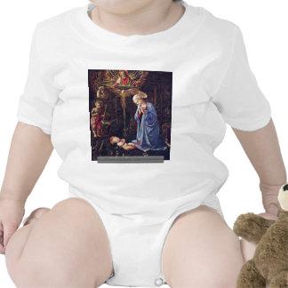 Adoration Of The Child And St. Bernard Tee Shirt