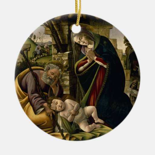 Adoration of the Christ Child by Botticelli Christmas Ornament