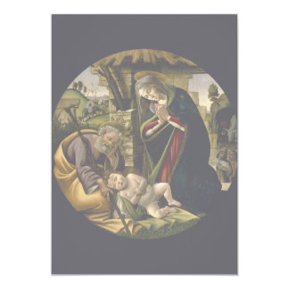 Adoration of the Christ Child by Botticelli Invites