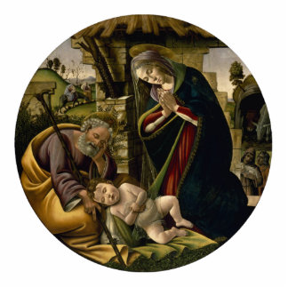 Adoration of the Christ Child by Botticelli Photo Sculpture Decoration