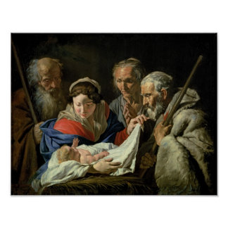 Adoration of the Infant Jesus Poster