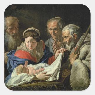 Adoration of the Infant Jesus Square Sticker