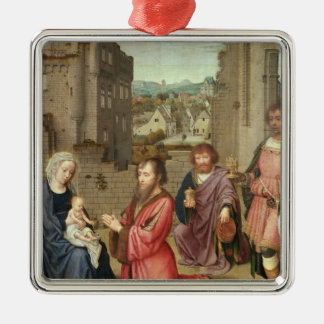Adoration of the Kings, 1515 Silver-Colored Square Decoration