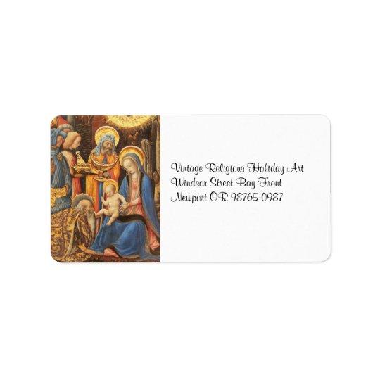 Adoration of the Kings  (Adorazione dei Magi) Label