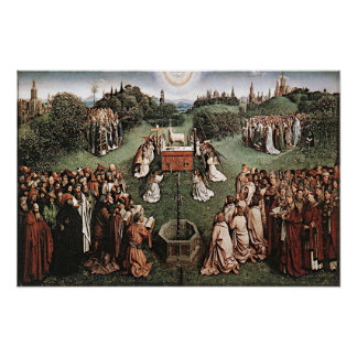 Adoration of the Lamb Jan van Eyck 1429 Poster