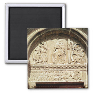 Adoration of the Magi 2 Square Magnet