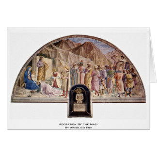 Adoration Of The Magi By Angelico Fra Card
