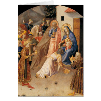 Adoration of the Magi by Fra Angelico 1423 Card