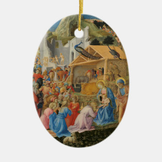 Adoration of the Magi (by Fra Angelico) Ceramic Ornament