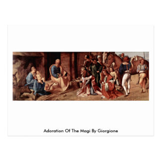 Adoration Of The Magi By Giorgione Postcard