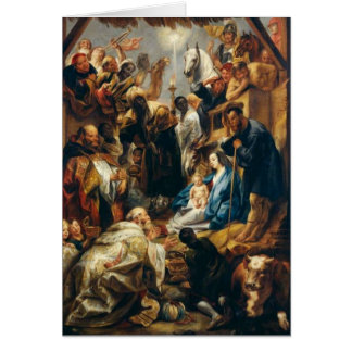 Adoration of the Magi by Jordaens Card