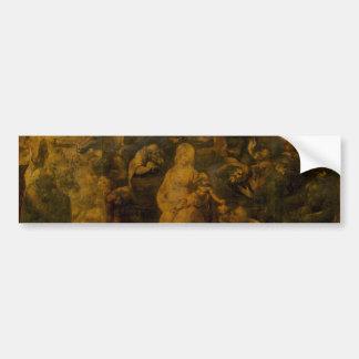 Adoration of the Magi by Leonardo da Vinci Bumper Sticker