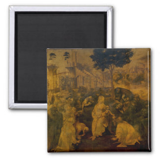 Adoration of the Magi by Leonardo da Vinci Magnet
