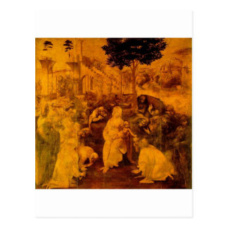 Adoration of the Magi by Leonardo Da Vinci Postcard
