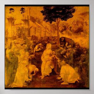 Adoration of the Magi by Leonardo Da Vinci Poster