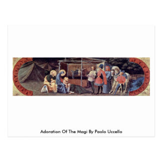 Adoration Of The Magi By Paolo Uccello Postcard