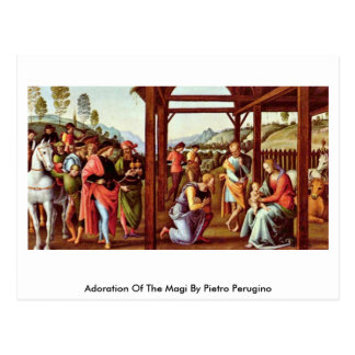 Adoration Of The Magi By Pietro Perugino Postcard