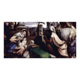 Adoration Of The Magi By Ponte Jacopo Da (Best Qua Custom Photo Card