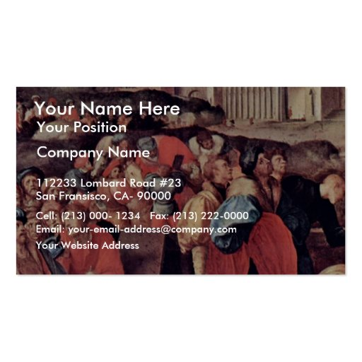 Adoration Of The Magi By Pontormo Jacopo Business Card Templates
