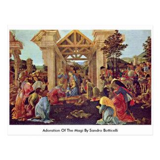 Adoration Of The Magi By Sandro Botticelli Postcard