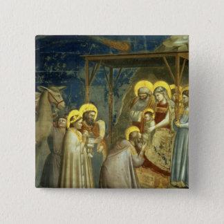 Adoration of the Magi, c.1305 15 Cm Square Badge