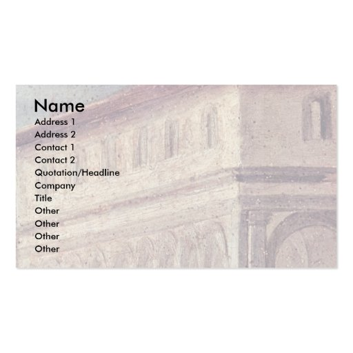 Adoration Of The Magi Detail By Pontormo Jacopo Business Card