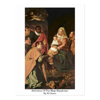 Adoration Of The Magi (Epiphany) By El Greco Postcard
