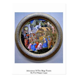 Adoration Of The Magi Tondo By Fra Filippo Lippi Postcard