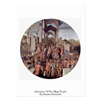 Adoration Of The Magi Tondo By Sandro Botticelli Postcard
